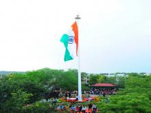 Flag hoisting at Manesar Garrison