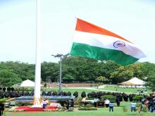 Flag hoisting at HQ NSG on 15 Aug 17
